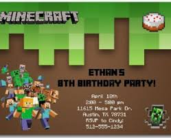 minecraft birthday invitations template image collections