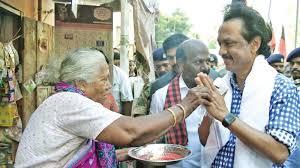 Seeking Chennai Tamil Nadu Polls Dmk Leader Stalin Walks Through Chennai