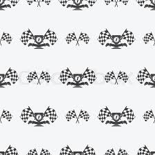 checkered ribbon checkered flag or racing flags icon seamless pattern place
