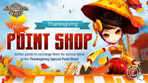 thanksgiving special point shop open summoners war ratings guide