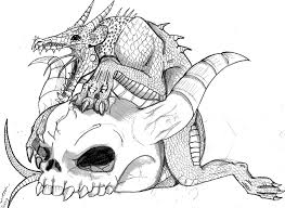 12 images of devil skull coloring pages dragon coloring