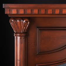 aden electric fireplace mantel package in cherry nefp40 0714c