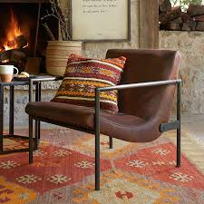 Leather Club Chair Leather U0026 Maple Wood Club Chair Robert Redford U0027s Sundance Catalog