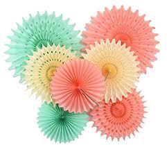 paper fan furuix paper honeycomb tissue paper fan mint green paper