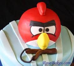 3 angry birds birthday cake