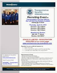 Transportation Security Officer Resume Connectup April 2015