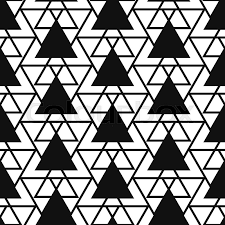 simple reticulate triangle net shape black and white seamless