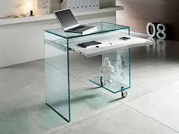 Home Office Glass Desk Nella Vetrina Tonelli Work Box Modern Italian Glass Desk In Glass