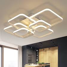 Acrylic Ceiling Light Rectangle Acrylic Aluminum Modern Led Ceiling Lights For Living