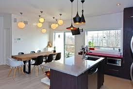 luminaires cuisines cuisines cuisine grise idée originale le plafond meubles