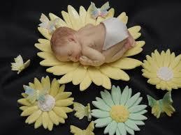 baby shower cake topper fondant daisy flowers u0026 butterflies