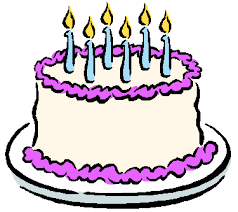 a birthday cake birthday cake with 6 candles clipart 13