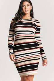 plus sweater dress plus size striped sweater dress forever 21 plus 2000216771