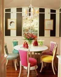 Colored Dining Room Chairs Colorful Dining Rooms Home Improvement Ideas