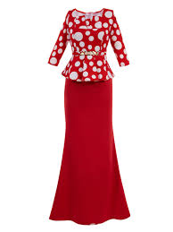 eric dress ericdress square neck polka dots half sleeves maxi dress 12726221