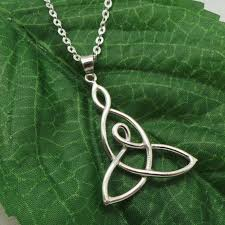 knot pendant necklace images Silver mother child knot necklace gift for mom children jpg