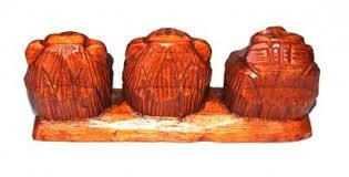 wooden three wise monkeys ornaments in your world