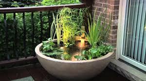 miniteich balkon mini gartenteich bauen kleine oasen im garten oder auf dem