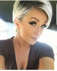 blonde hair with dark roots short blonde hair with dark roots