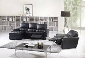 reclining sectional sofas with chaise black leather reclining sectional foter