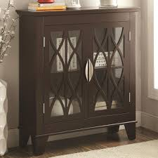 accent cabinets with doors accent cabinet with glass doors coaster 950311