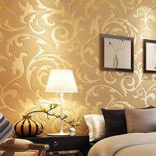 10m damask 3d embossed textured non woven wallpaper rolls tv