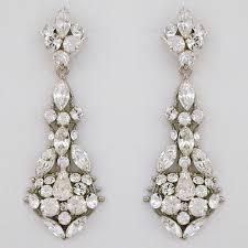 teardrop chandelier earrings erin cole bridal earrings filigree chandelier for modern