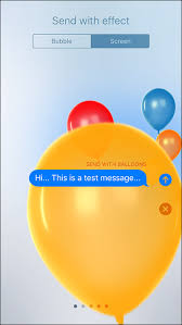 send balloons how to send imessage with screen effects in ios 10 on iphone