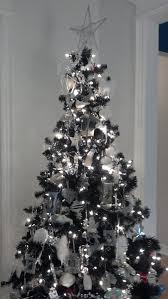 tree black trees white and silver
