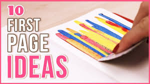 10 ideas for the page in your sketchbook journal