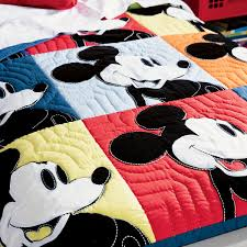 mickey mouse color block mickey quilt by ethan allen shopdisney