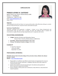 resume for application format sle of resume application a for 19 resumes tempss co