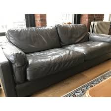 Sofa Modern Italian Leather Grey Modern Sofa Aptdeco