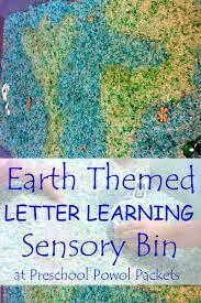 earth themed preschool letter sensory bin preschool powol packets
