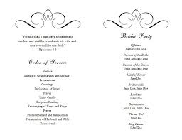 Wedding Ceremony Program Template Free Programme Template Word Lareal Co