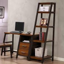 Rta Bookcases Waco Desk With 2 Drawers And Shelf And Attached Bookshelf