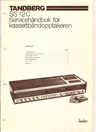 tandberg ss 12 c top loader cassette deck 1978 sm service manual