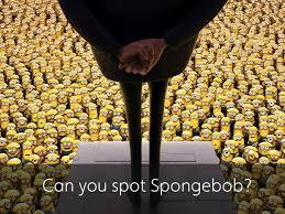 mind bending puzzle asks locate spongebob crowd