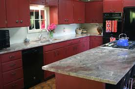 red chalk paint on kitchen cabinets creative with chalk paint on