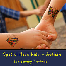 autism special need kids temporary tattoos by awesomeadjustments