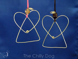 tutorial wire angel ornaments the chilly dog