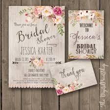 printable bridal shower invitations printable bridal shower invitation rustic garden shower invite