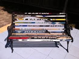 hockey stick bench this was a perfect way to recycle old bench
