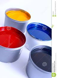 offset printing ink stock photo image of bright press 4552252