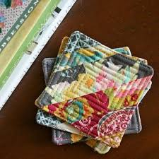 best 25 quilted coasters ideas on fabric coasters