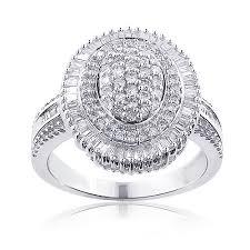 silver diamond rings sterling silver diamond cluster ring 119ct silver and diamond ring
