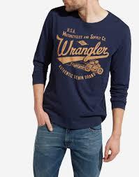 mens t shirts plain logo retro tees for wrangler europe