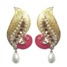 fancy jhumka earrings youbella traditional gold plated jewellery pearl jhumka jhumki