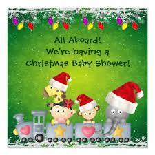 Christmas Baby Shower Invitations - custom train baby shower train invites templates babyfavors4u