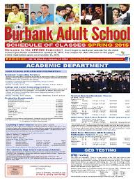 burbank spring 2015 course catalog exposure